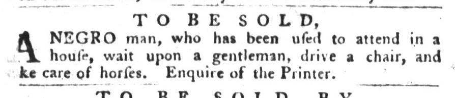 Jan 19 - South-Carolina Gazette and Country Journal Slavery 2