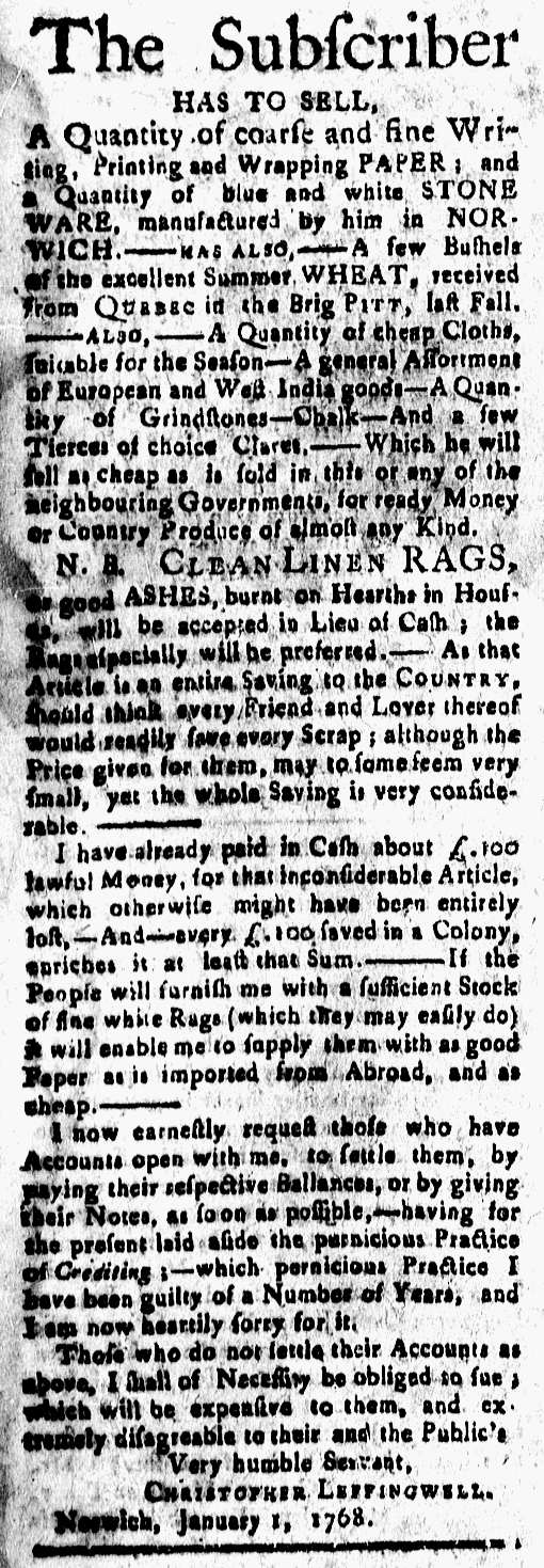 Jan 22 - 1:22:1768 New-London Gazette