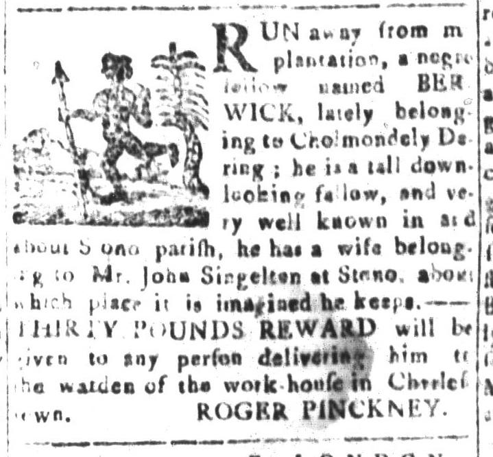 Jan 22 - South-Carolina and American General Gazette Slavery 8