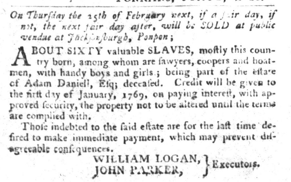 Jan 26 - South-Carolina Gazette and Country Journal Slavery 4