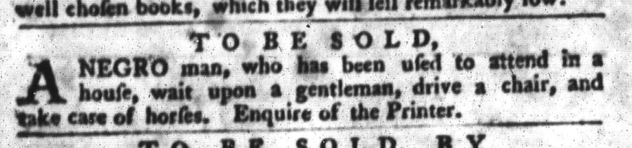 Jan 26 - South-Carolina Gazette and Country Journal Slavery 8
