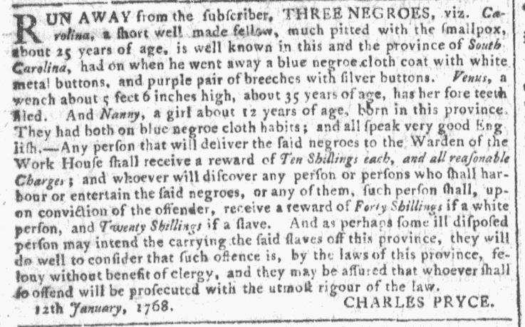 Jan 27 - Georgia Gazette Slavery 2