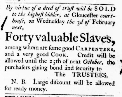 Jan 28 - Virginia Gazette Purdie and Dixon Slavery 4