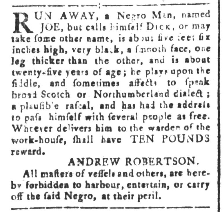 Jan 29 - South-Carolina and American General Gazette Slavery 1