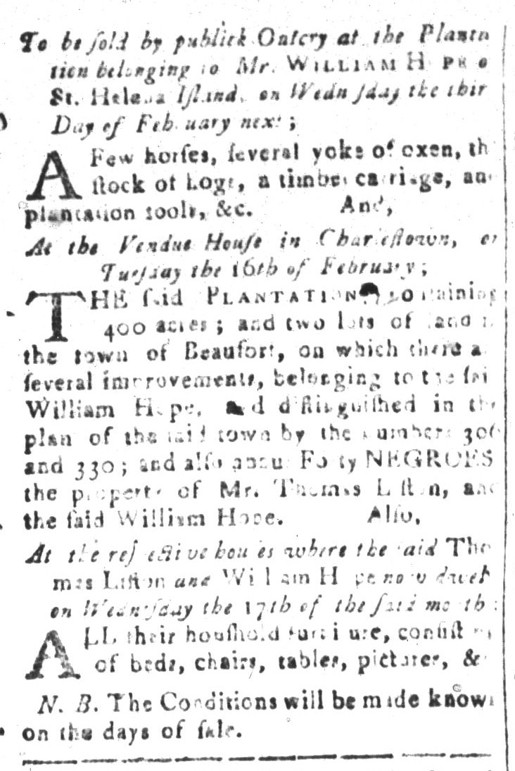 Jan 29 - South-Carolina and American General Gazette Slavery 13
