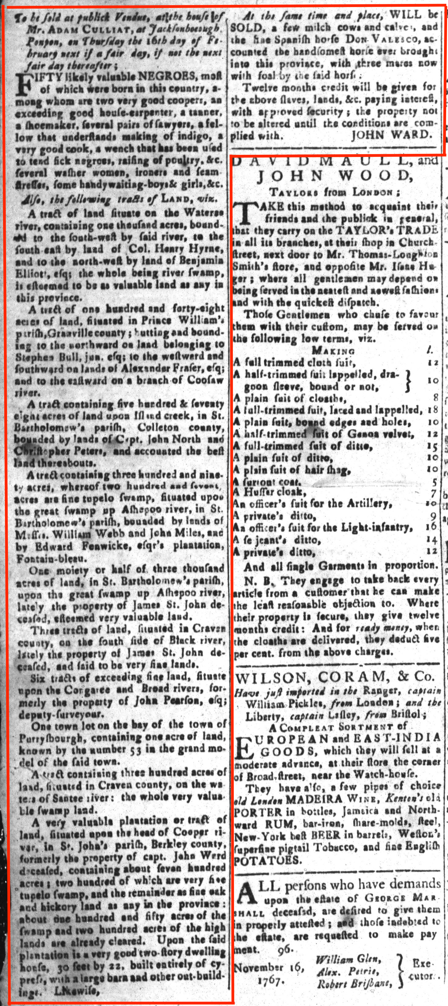 Jan 29 - South-Carolina and American General Gazette Slavery 14
