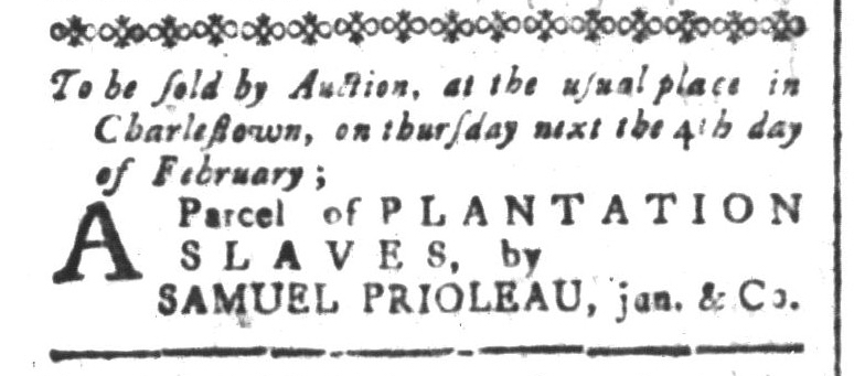 Jan 29 - South-Carolina and American General Gazette Slavery 2
