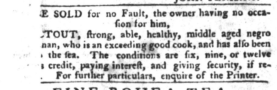 Jan 5 - South-Carolina Gazette and Country Journal Slavery 2