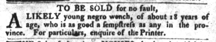 Jan 5 - South-Carolina Gazette and Country Journal Slavery 3
