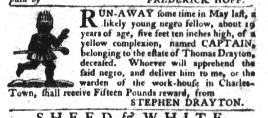 Jan 5 - South-Carolina Gazette and Country Journal Slavery 5