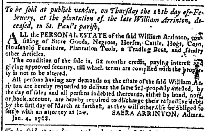 Jan 6 - Georgia Gazette Slavery 1