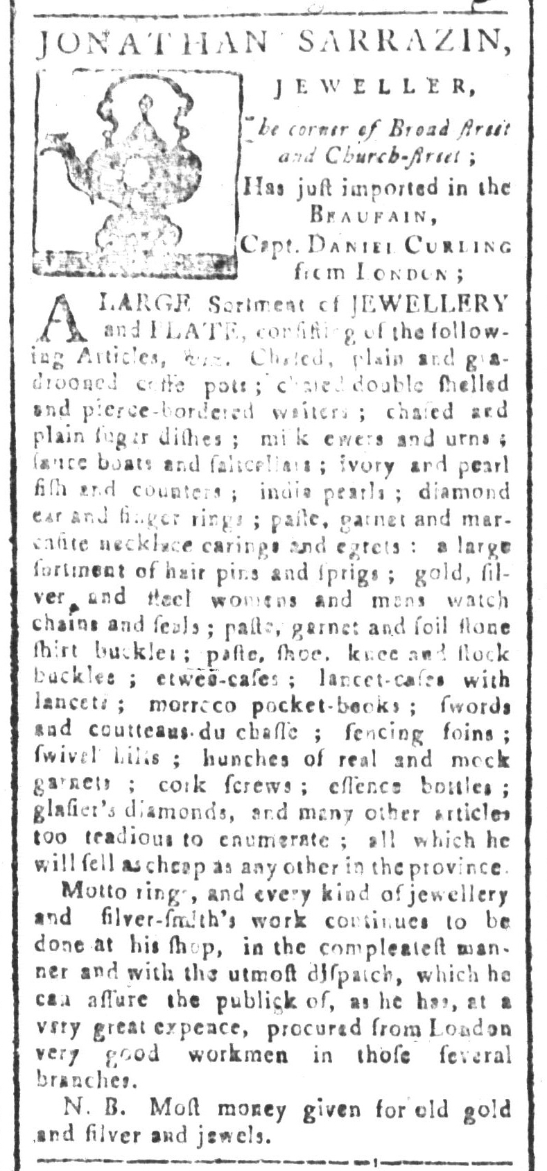 Jan 8 - 1:8:1768 South-Carolina and American General Gazette