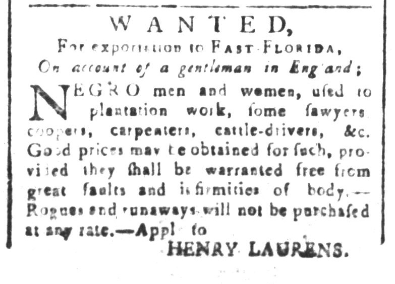 Jan 8 - South-Carolina and American General Gazette Slavery 1
