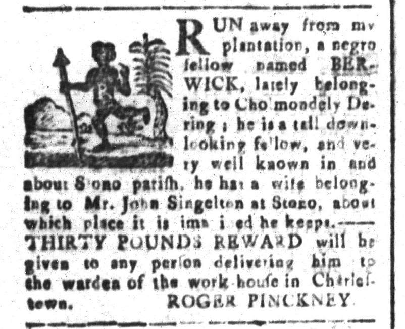 Jan 8 - South-Carolina and American General Gazette Slavery 8