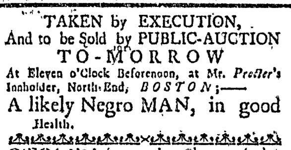 Feb 11 - Massachusetts Gazette Extraordinary Slavery 1