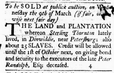 Feb 11 - Virginia Gazette Purdie and Dixon Slavery 2