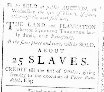 Feb 11 - Virginia Gazette Rind Slavery 2