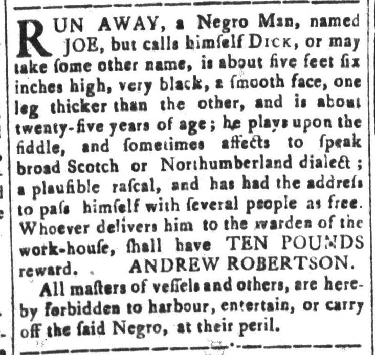 Feb 12 - South-Carolina and American General Gazette Slavery 15