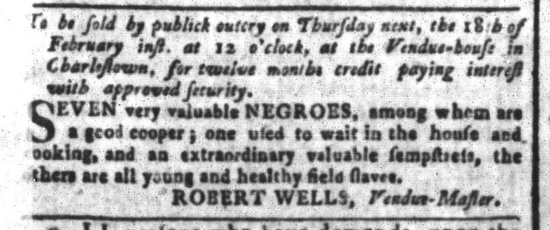 Feb 12 - South-Carolina and American General Gazette Slavery 4