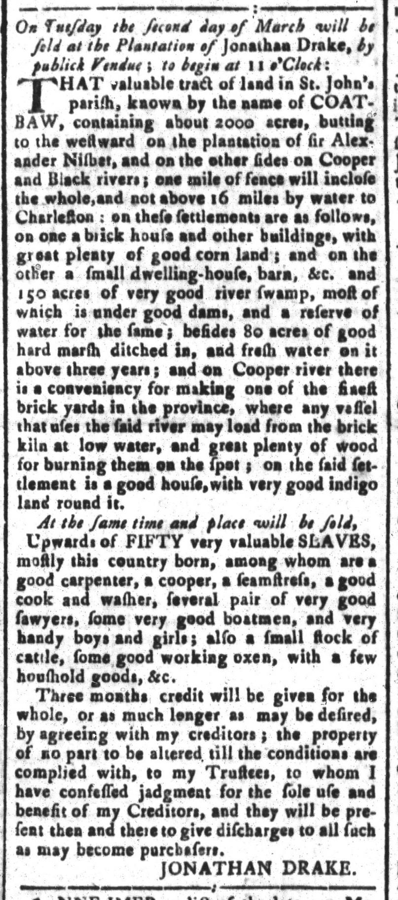 Feb 12 - South-Carolina and American General Gazette Slavery 6