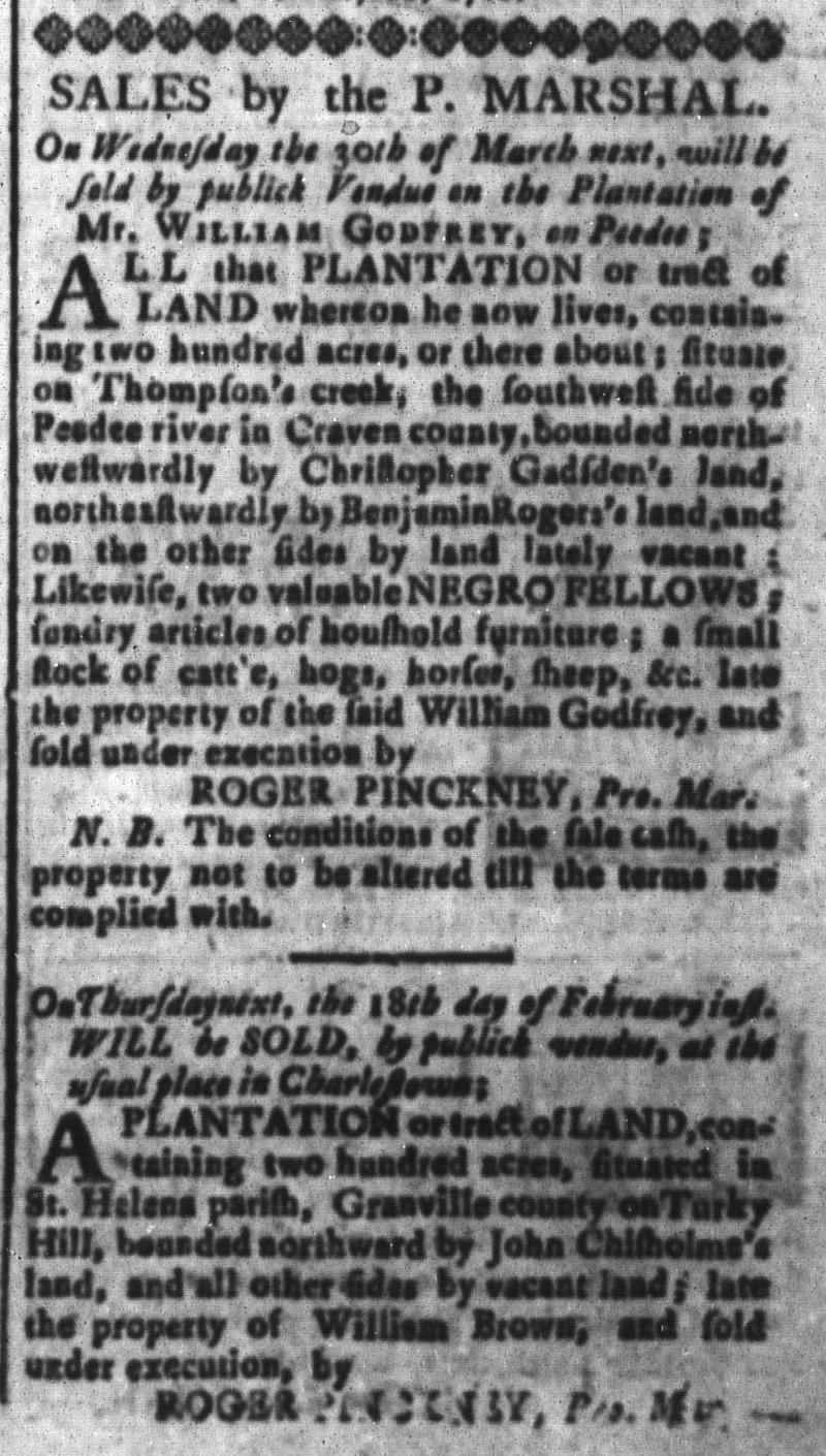 Feb 12 - South-Carolina and American General Gazette Slavery 7