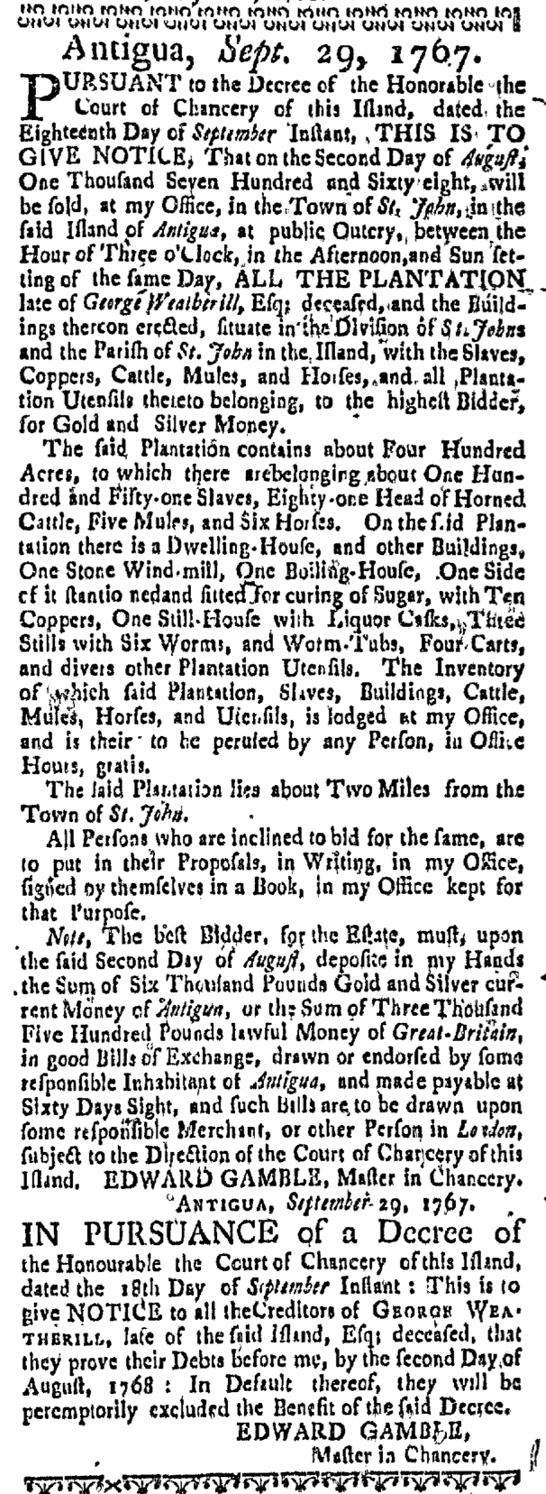 Feb 18 - Massachusetts Gazette Slavery 2
