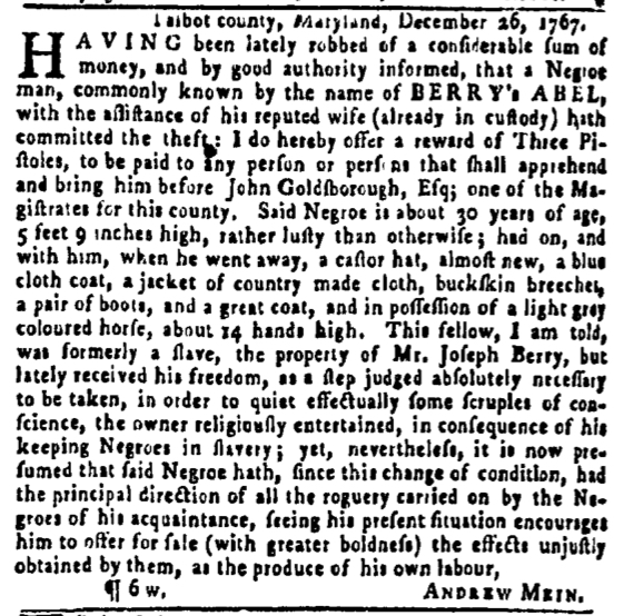 Feb 18 - Pennsylvania Gazette Slavery 2