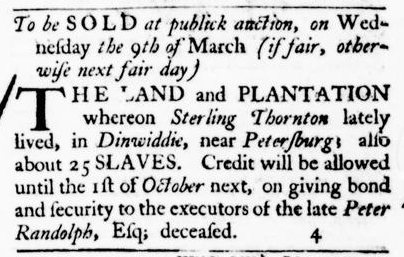 Feb 18 - Virginia Gazette Purdie and Dixon Slavery 2