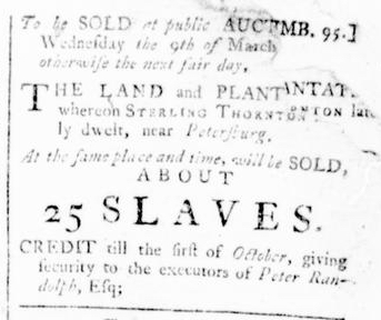 Feb 18 - Virginia Gazette Rind Slavery 3