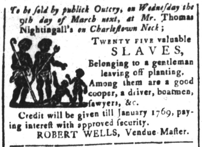 Feb 19 - South-Carolina and American General Gazette Slavery 12