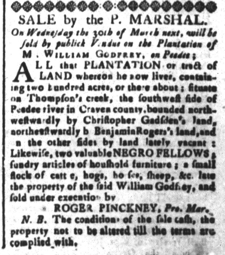 Feb 19 - South-Carolina and American General Gazette Slavery 7