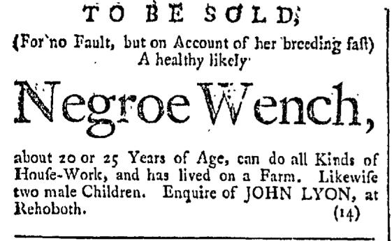 Feb 20 - Providence Gazette Slavery 1