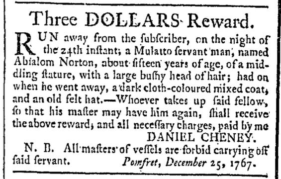 Feb 20 - Providence Gazette Slavery 2