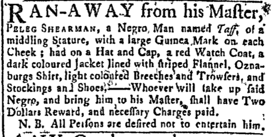 Feb 22 - Newport Mercury Slavery 1