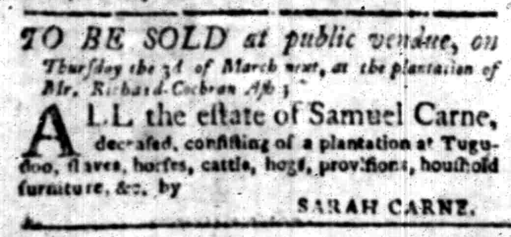Feb 22 - South Carolina Gazette Slavery 12