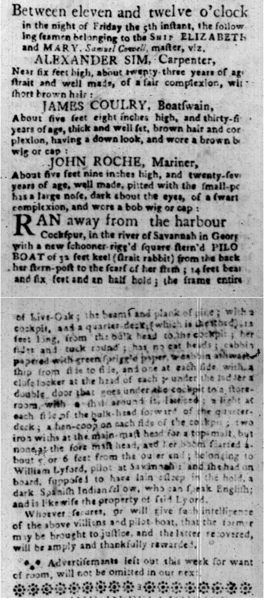 Feb 22 - South Carolina Gazette Slavery 5