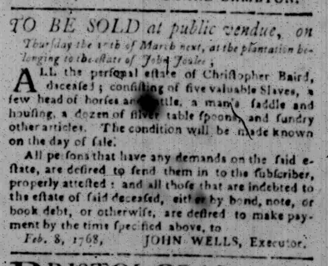 Feb 22 - South Carolina Gazette Slavery 9