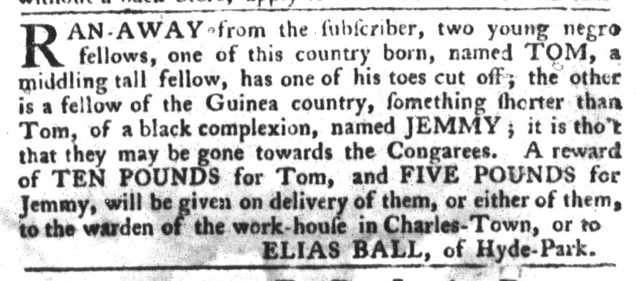 Feb 23 - South-Carolina Gazette and Country Journal Slavery 3