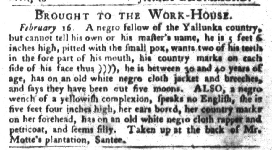 Feb 23 - South-Carolina Gazette and Country Journal Slavery 9
