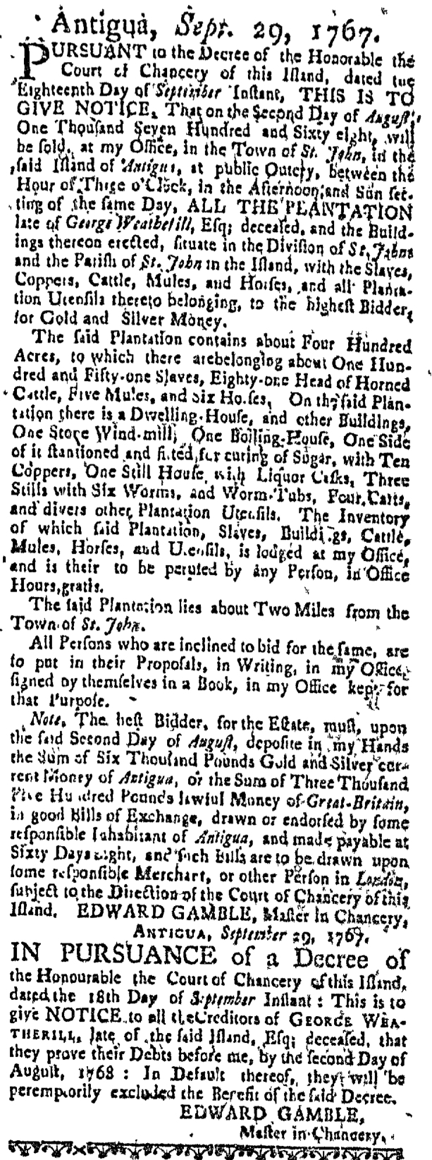 Feb 25 - Massachusetts Gazette Slavery 2