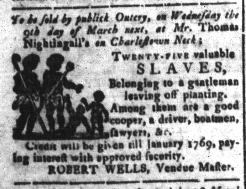 Feb 26 - South-Carolina and American General Gazette Slavery 8