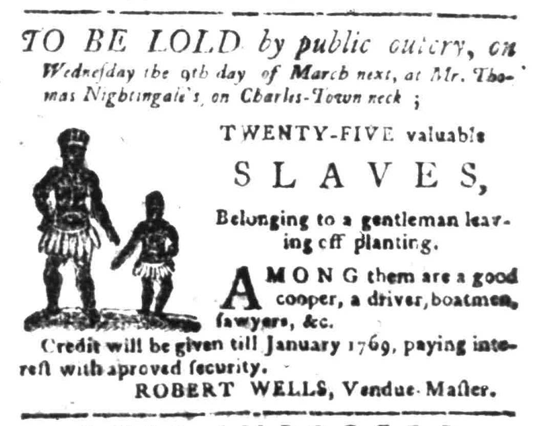 Feb 29 - South Carolina Gazette Slavery 10