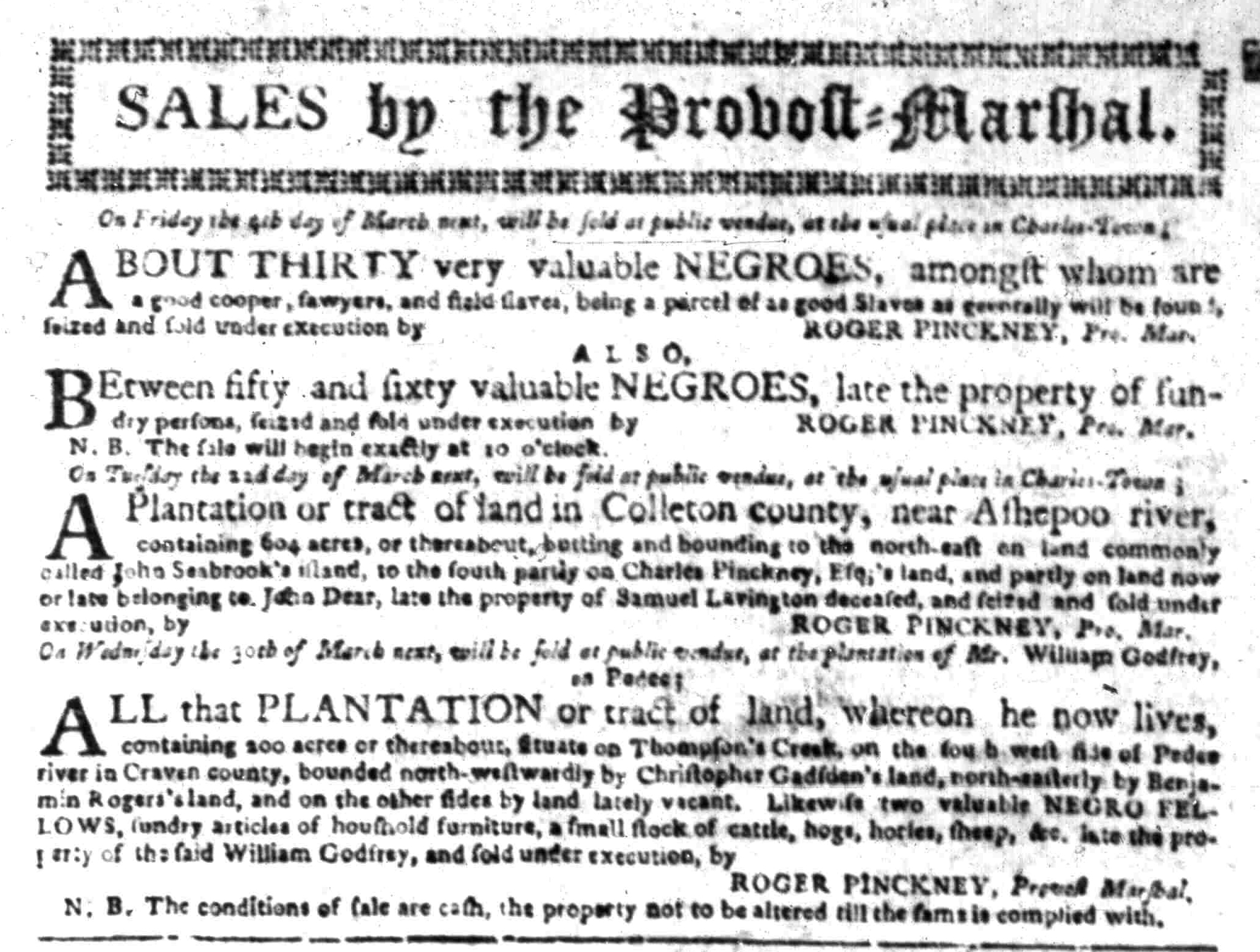 Feb 29 - South Carolina Gazette Slavery 4