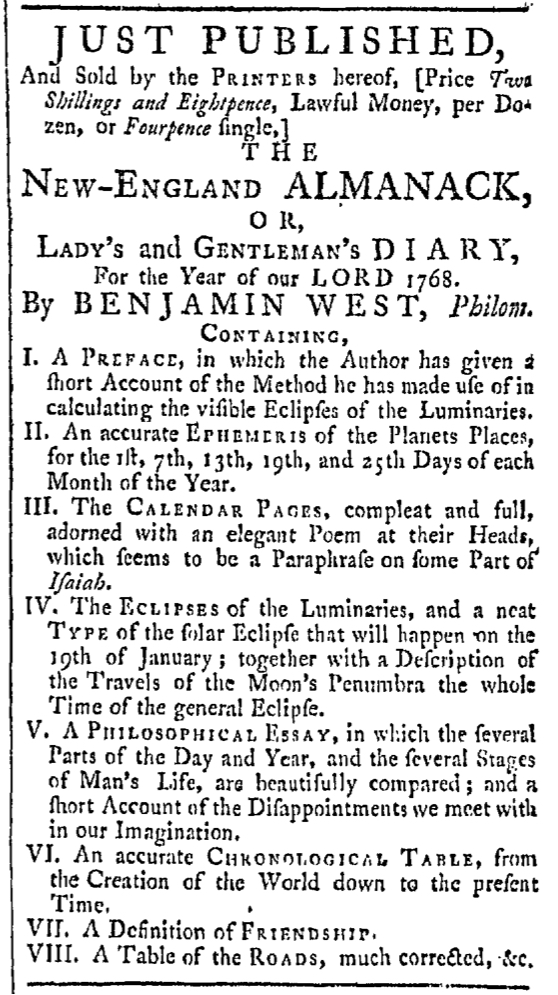 Feb 6 - 2:6:1768 Providence Gazette