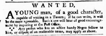 Mar 3 - Virginia Gazette Purdie and Dixon Slavery 1