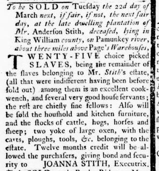 Mar 3 - Virginia Gazette Rind Slavery 4