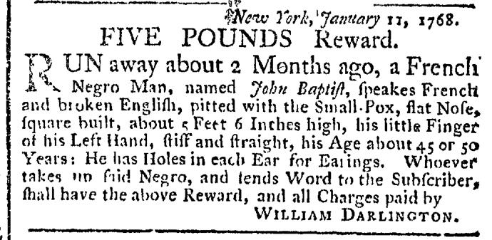 Mar 7 - New-York Gazette Weekly Post-Boy Slavery 1