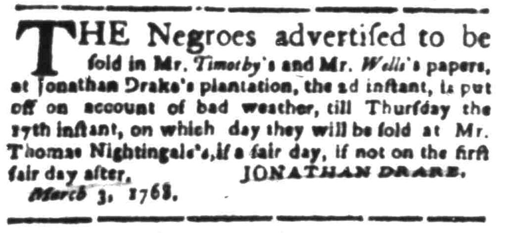 Mar 7 - South Carolina Gazette Slavery 4