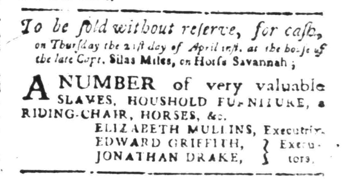 Apr 4 - South Carolina Gazette Slavery 3