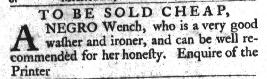 Apr 5 - South-Carolina Gazette and Country Journal Slavery 9